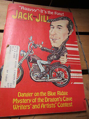 Jack and Jill Magazine The Fonz Henry Winkler from Happy Days March 1977