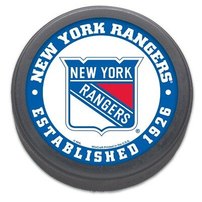 New York Rangers Established 1926 NHL Collectors Puck