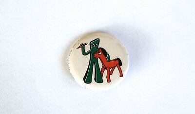 VINTAGE 1980's GUMBY and POKEY FAN CLUB PIN/BADGE!