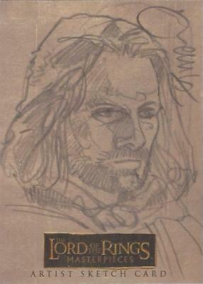 """Lord of the Rings Masterpieces - RARE Dave Dorman """"Aragorn"""" Sketch Card"""