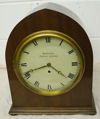 Large Single Fusee Bracket Clock By Barrauds
