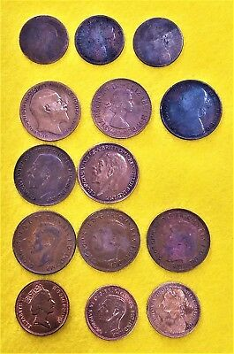 Very Nice Vintage  Lot Of Fourteen (14)  British - Australia - Canada Coins