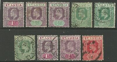St Lucia - Selection EVII definitives - SG59(NG) 64/7 - VFU - Cat c£11