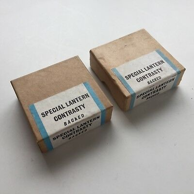"""48 Ilford Lantern Plates - DEVELOP IN THE DARKROOM - 4 PACKS OF 12 2""""x2"""""""