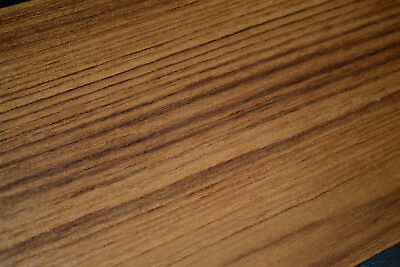 Teak Raw Wood Veneer Sheets  6 x 16 inches 1/42nd thick                 8708-5