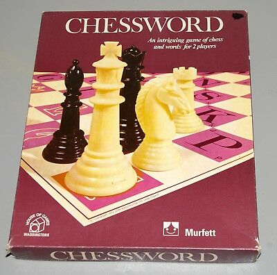 Vintage Chessword game by Murfett, 1972, make a word by moving chess pieces