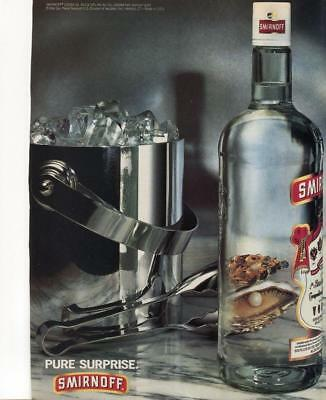 "1994 Smirnoff Vodka Print Ad- ""pure Surprise"" Pearl In Oyster - Bar Print Decor"