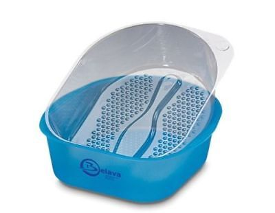 Belava Pro Salon Pedicure Starter Kit Bowl With 25 Replacement Liners - Blue