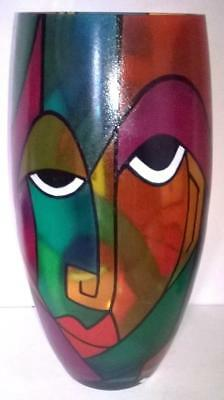 Picasso Styled Murano Art Glass Vase - Large Size - Signed By Bilbo - Rare L@@K