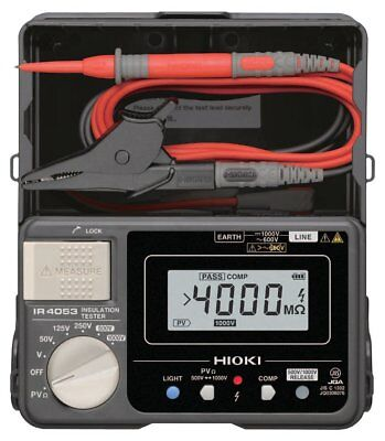 Insulation Resistance Tester for Photovoltaic System IR4053-10 HIOKI w/ Tracking