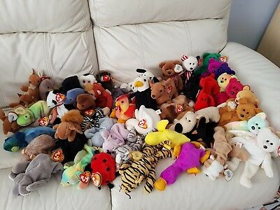 605e5631fcc Large Collection Of 49 Retired TY BEANIE BABY - Including 11 Rare Bears