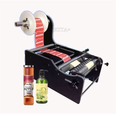 TB-26 Manual Round Bottle Labeler Labeling Machine Label WIDTH:10-210MM New Y vl