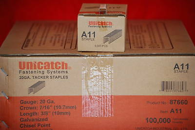 """1Case A11/T50-3/8"""" Staples 20 Boxes 5000 ea.100,000  ISO Certified!"""