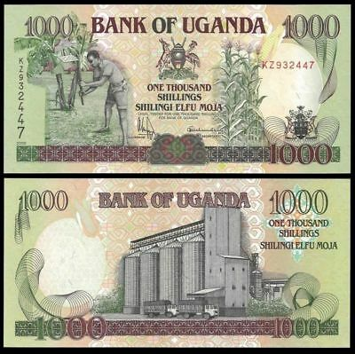 Uganda 1000 shillings p.43 Uncirculated Free Shipping