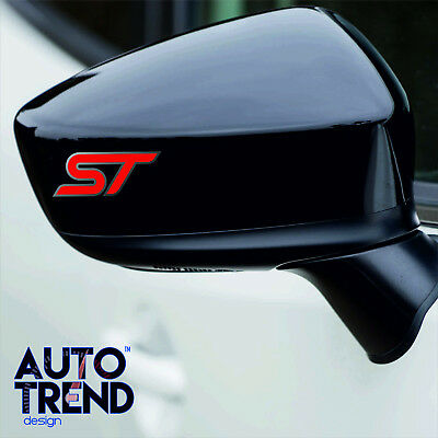 4 x FORD ST Mirror (Large) Decal Sticker Detail-Best Quality