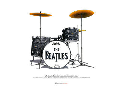 Ringo Starr's Ludwig Kit from the Shea Stadium concert - ART POSTER A2 size