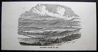 BATHURST (New South Wales) AUSTRALIEN Australia. Originaler Holzstich 1870