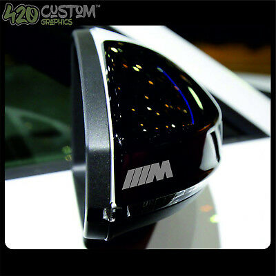 4 X BMW M SPORT Mirror Decal Sticker Detail-Best Quality-Many Colours-Easy Fit