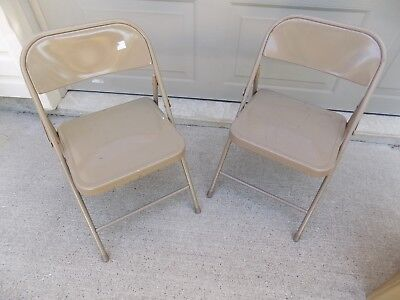 2 Vintage Child's Sunday School Metal Folding Chair (R8-14)