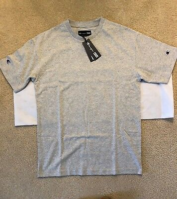 8b6441a2294d KITH X CHAMPION C Patch Shirt Grey Size Small -  78.00