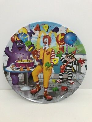 Mcdonald's Collectible Melamine Happy Birthday Dinner Plate 2003