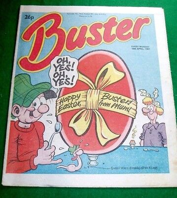 Buster Comic  Happy Easter Issue  18/4/1987
