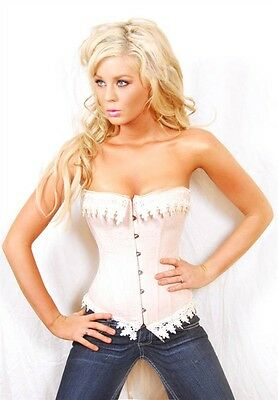Ivory coloured women's bustier / corset lingerie, intimates, costume