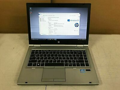 "HP EliteBook 8470p Laptop 14"" Intel i5-3320M @2.60GHz 4GB MEM 500GB HDD Win 10"