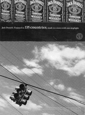 """Jack Daniels Whiskey Print Ad """"made In A Town With One Stoplight"""" Old No 7- Bar"""