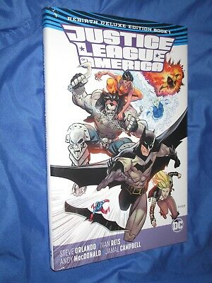 JUSTICE LEAGUE OF AMERICA Rebirth Deluxe Edition Book HC/HB/Hardcover VOL 1