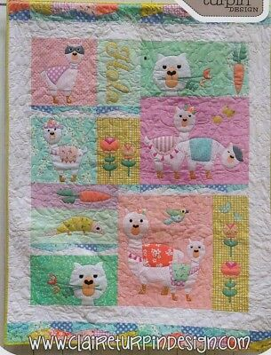 Lama Rama - fun applique & pieced quilt PATTERN - Claire Turpin