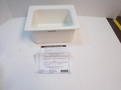 CARLISLE CM110102 Half Size Food Pan 6 Qt. White New