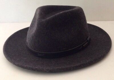 2dd9a1ff3f1bc Pendleton Virgin Wool Hat Black Outback Indiana Jones Fedora NWT Men s Size  M