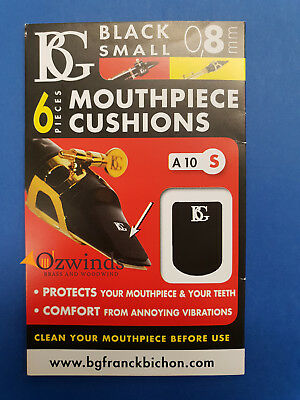 BG Mouthpiece Cushions Small Black 0.8 mm - A10S