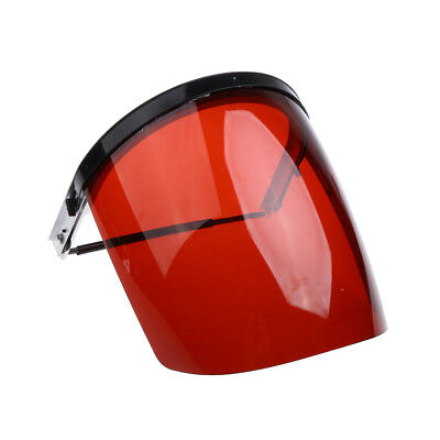 Safety Face Shield / Clear Visor Full Mask / Eye Protection Grinding Red
