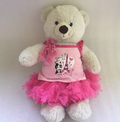 Authentic Build a Bear Party Outfit: 'Paris' Pink Top, Frill Skirt #SundayMarket