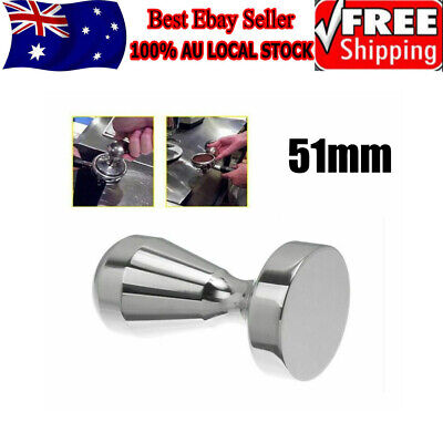 455g SUPER HEAVY 51mm Stainless Steel Coffee Tamper Espresso Barista Polished
