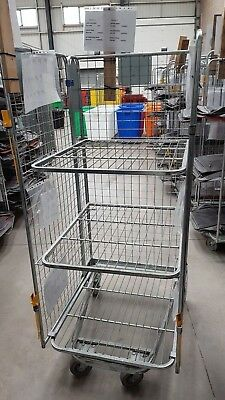 WAREHOUSE SUPERMARKET ROLL Cage - USED (Storage or goods in) - 3 shelves  (Crewe)