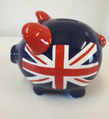 Percy Pig Limited Edition 2009 Union Jack Piggy Bank Marks and Spencer