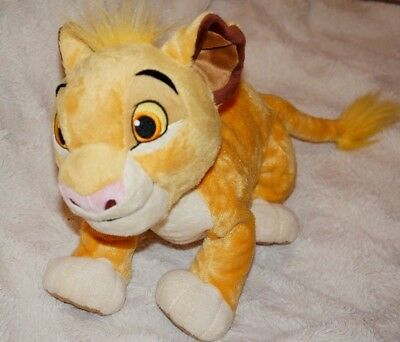 "Disney Store Simba Plush Soft Toy from The Lion King 14"" Stamped"