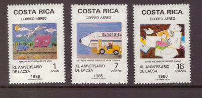 Costa Rica MNH 1986 Art  Children's Drawings  set mint stamps