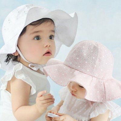 Baby Kids Child Summer Toddler Girls Sun Hat Outdoor Cap Beach Bucket Bonnet