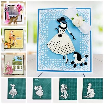 Lady Metal Cutting Dies Stencil Scrapbooking Embossing Crafts Greeting Letter