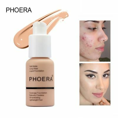 Coverage Concealer Moisturizing Cosmetic PHOERA Liquid Foundation Longlasting