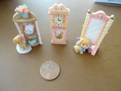 Lot of 3 Precious Moments PMI Miniatures1999  Collectibles Dollhouse Etc