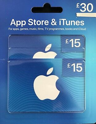 30 GBP UK Apple iTunes Gift Card Code Certificate £30 Pound UK British English