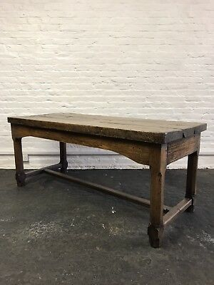 Superb Antique French Oak Refectory Country Farmhouse Kitchen Dining Table