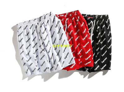 18SS Hot New Men Supreme Casual printing Pants Beach Shorts free delivery