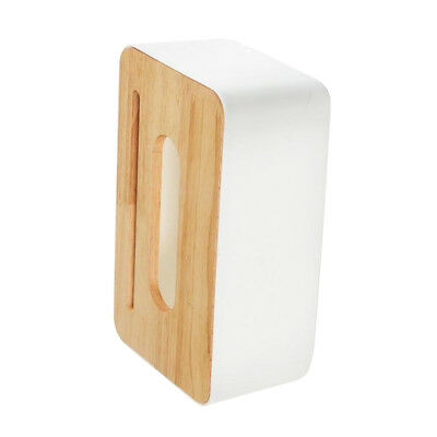 Modern Wood Cover Tissue Box Holder Paper Napkin Case Home Office Square 3