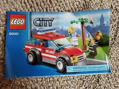 Lego Instruction Manuals Lego City Fire Chief Car 60001 Bulk